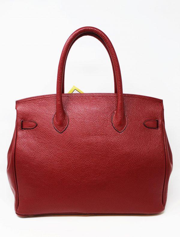 Borsa Birkin fatta a mano - Colore Rosso Rubino